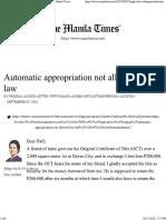 Automatic Approp - Pactum Commisorium - The Manila Times