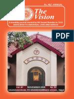 Anandashram the Vision for Nov 2019