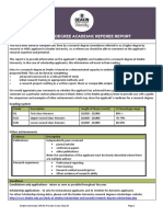 Research Degree Referee Report
