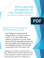 Act of Proclamation of Independence of the Filipino1[1]