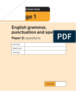 2019 KS1 English GPS Paper 2 Questions