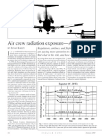 Air Crew Radiation Exposure - An Overview