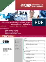 Cómo Seleccionar Un Instrumento de Evaluación