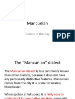 dialect of the day - mancunian