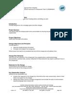 Change Management Plan Template