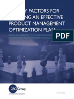 Five Key Factors for Creating an Effective Product Management Optimization Plan