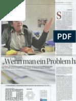 Ute Bock - Wenn man ein Problem hat rennt man nicht davon - Kurier 31.10.2010