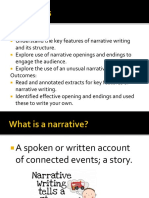 Narrative Writing Structure Introduction Lesson