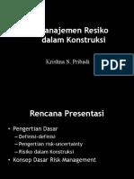 Intro Manajemen Risiko
