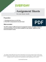 Assignment Sheets Regular 2018