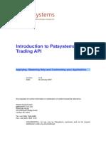 introducing of PATS system API