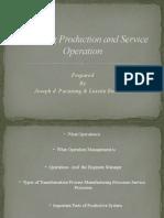 Managing Production and Service Operation- Joseph Pacatang & Luisito Benito