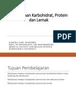 ( KULIAH 8 ) Pencernaan Karbohidrat, Protein Dan Lemak Sem 3