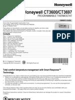 Honeywell CT3600 Thermostat