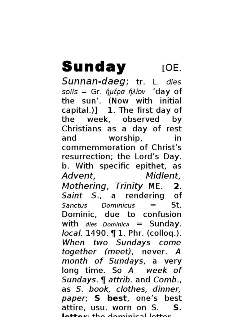Anth 73 Sunday