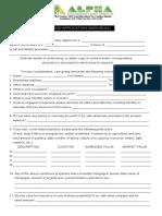 Bond Application Individual