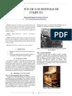 Evolución de Los Sistemas de Cómputo - Santiago Navarrete