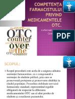 Competența Farmacistului Privind Medicamentele OTC.limbas Nadejda ,Constantin Anastasia F1404