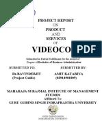 Minor Project Report on Videocon-WWW.SELUR.TK