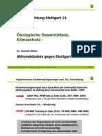 Stuttgart 21 Schlichtung - [5] 2010-11-19 - Joachim Nitsch Ökologische Gesamtbilanz, Klimaschutz