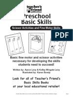 Preschool Basic Skills Scissor Activities and Fine Motor Skills