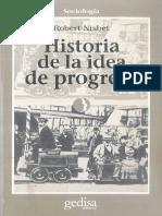 Robert Nisbet - Historia de La Idea de Progreso-Gedisa (1998)