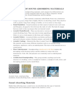 Application of Asound Absorbing Materials