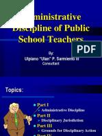3 Administrative Discipline