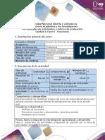 Guía de Actividades y Rúbrica de Evaluación - Fase 4 - Funciones