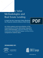 Long Term Value Methodologies and Real Estate Lending