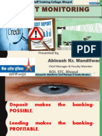 credit monitoring in bank