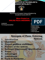Online Pizza Ordering System Pp t