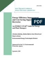 Energy Efficiency Improvement Breweries