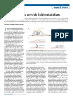 Golgi Mechanism Metabolic Control Lipid