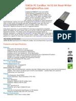 Express Card 34 to PCMCIA PC CardBus 16