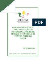 ANIRSF - Linhas de orientação para a aplicação do sistema de análise de perigos e controlo de pontos críticos HACCP