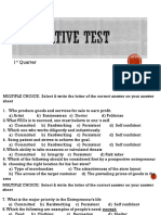 1st Summative Test Grade 9
