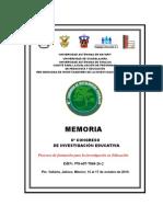 MEMORIA 6° Congreso de Investigacion Educativa