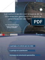La Comunicacion Geocientifica en La Planificacion