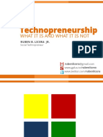 Techno Preneur Ship What It is and What Its Not