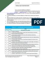 Calendario de Exposiciones TPII Trujillo 2019 - I