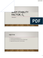 beam stability factor