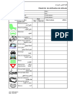 Chek List Vérification Du Véhicule