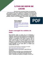 [0] El CULTIVO de KEFIR de LECHE, Articulo Completo, Mejoras, Beneficios Tratamientos...