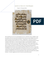 Islam and Jurisprudence a Basic Bibliogr