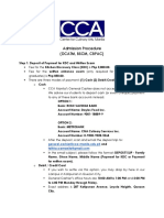 Admission Procedure for DCATM BSCM CBPAC