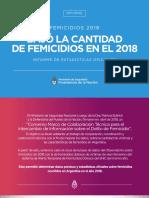 Informe sobre reducción de femicidios