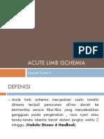 LIMB Ischemia