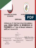 Certificado - Palestrante - Daniel Cesar - LACITZ