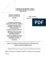 Reply Brief to GA Power Defendants Opposition to Plaintiff's Rule 60(b) Motion